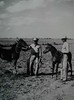 "Taken on King Ranch, circa late 1930's.  ""Breaking Colts.""  On Right:  Lauro F. Cavazos On Left:  Unknown man, could be Mr. Kleberg."