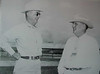Taken on the King Ranch - Santa Gertruidis Division, near Kingsville, Texas.  Picture circa early 1950's.<br /> <br /> On the left:  Lauro Fredrico Cavazos<br /> On the right:  Dr. Northway, King Ranch Veterinarian